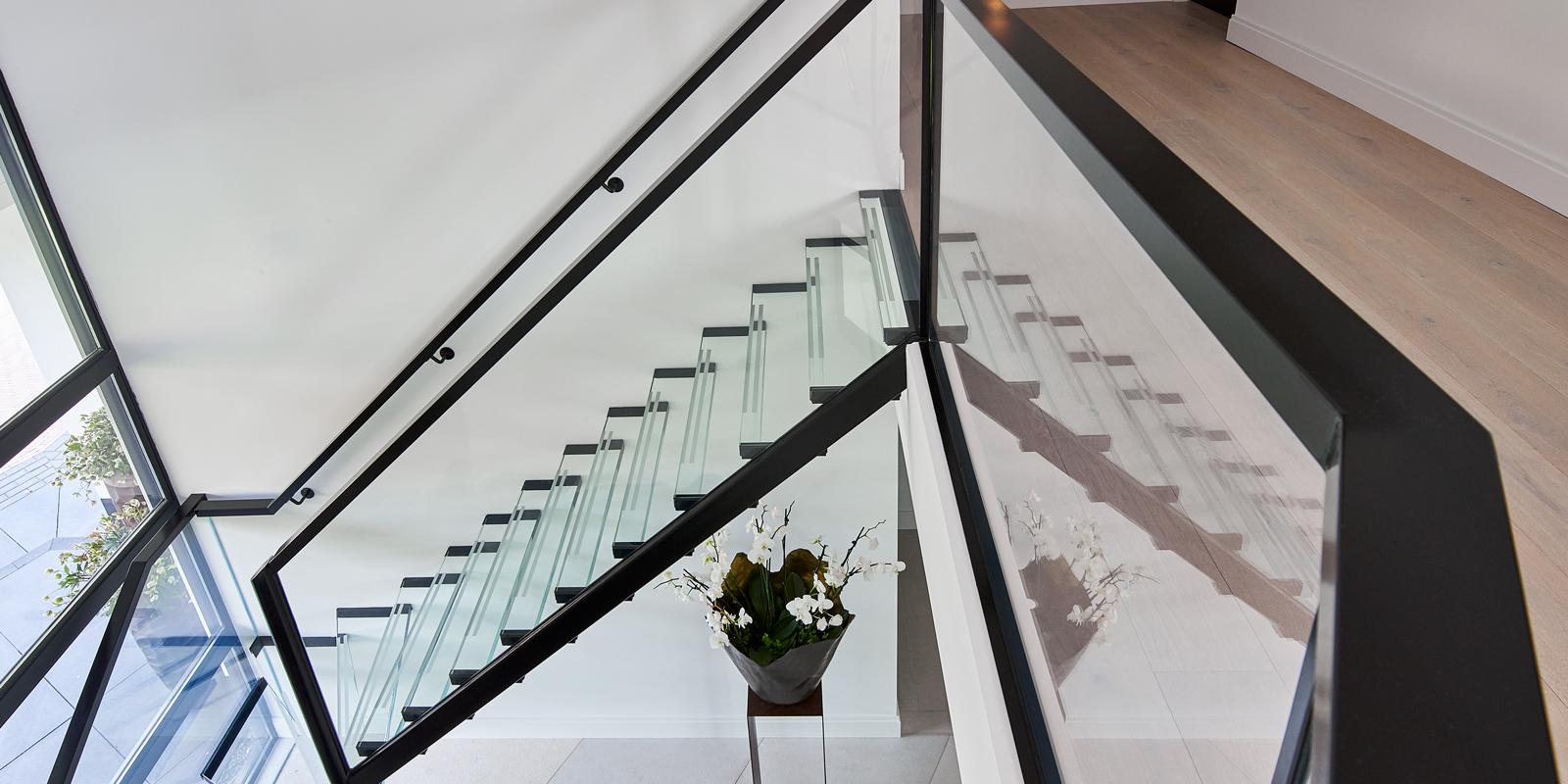 glazen trap, stylish glass, the art of living