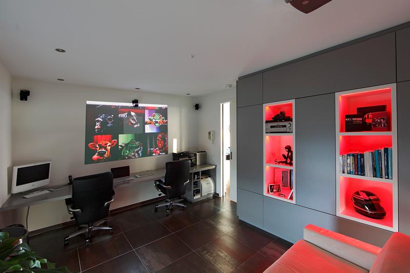 Studeerkamer, werkplek, home office, bureau, penthouse, crepain Binst