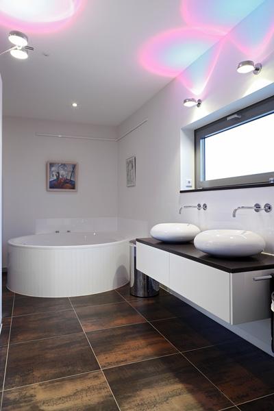 Badkamer, sanitair, bad, wastafel, natuurlijk licht, penthouse, crepain Binst