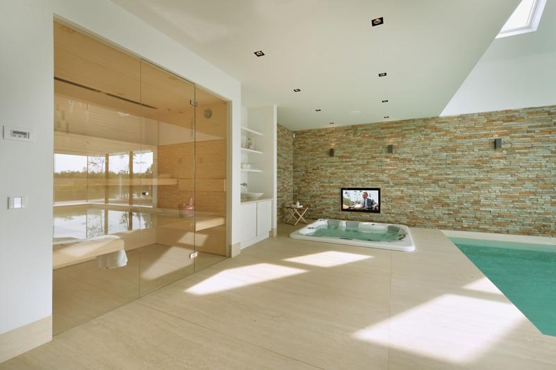 Sjartec heeft de wellness in deze prachtige villa verzorgd.
