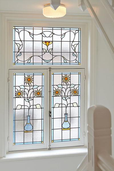 The Art of Living, Exclusief wonen, Glas-in-lood Ramen Vooroorlogse villa Monumentaal, design, stijl, klassiek, glas in lood, villa