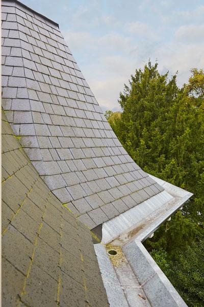 The Art of Living, Exclusief wonen, Dakafwerking Leisteen Villa Burgemeesterwijk Arnhem, dak, villa, monumentaal