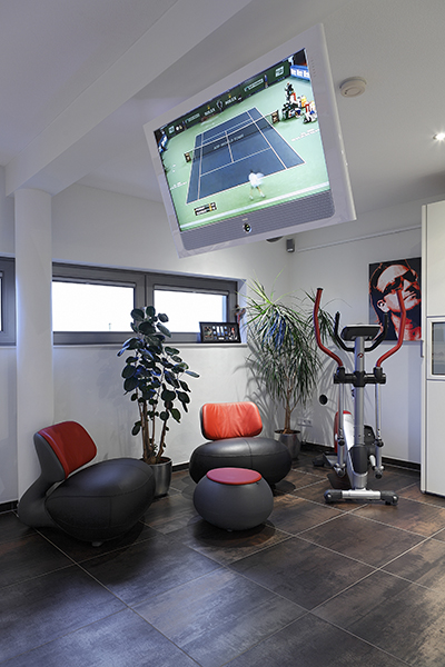 The Art of Living, Exclusief wonen, Architect Crepain, fitness, luxe, televisie, sport, penthouse, kunst, design, interieur, tegelvloer