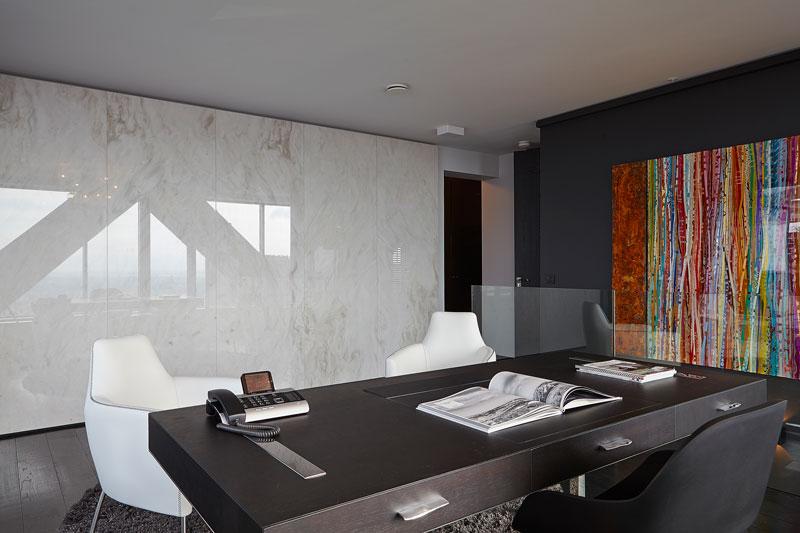 The Art of Living, Exclusief wonen, Kantoor Grillo Natuursteen Marmer Matchbook Ledverlichting, kunst, natuursteen, kantoor, schilderij, meubilair, laminaat, exclusief