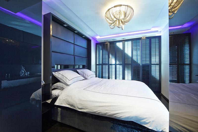 The Art of Living, Exclusief wonen, Slaapkamer Bed Nilson Beds Masterbedroom LEDverlichting Jasno Shutters, slaapkamer, slaapkamer, verlichting, shutters, exclusief, interieur, meubelen