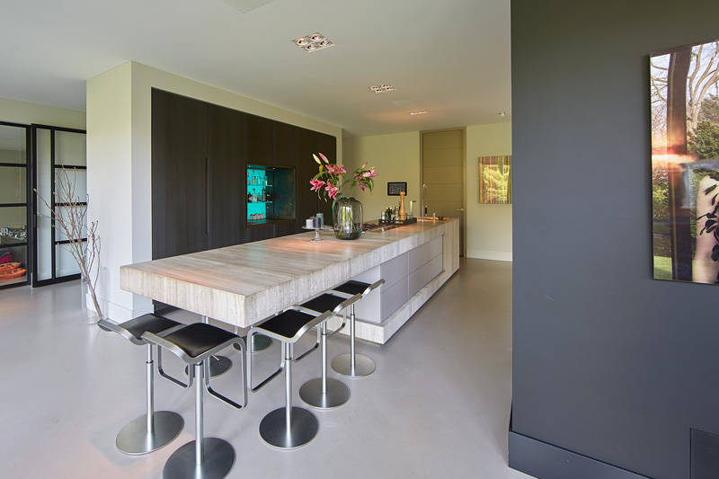 Culimaat heeft voor de keuken gezorgd die maximale luxe uitstraalt.