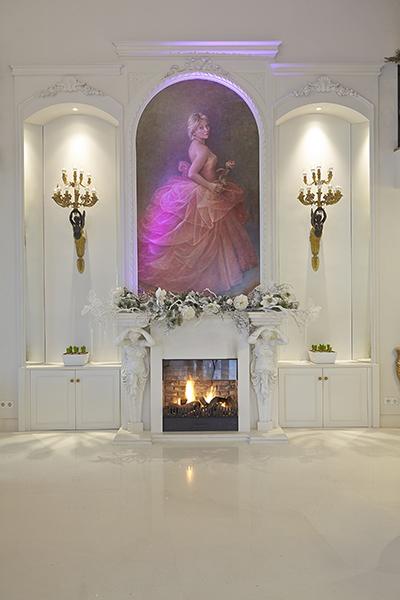 The Art of Living, Exclusief wonen, Bas openhaarden, openhaard, kachel, kunst, kroonluchter, design, interieur, wit, schilderij,