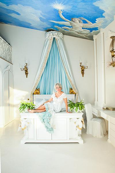 The Art of Living, Exclusief wonen, Mérens Boxsprings, bed, boxspring, lucht, wit, design, interieur, modern, kunst, Marjan Strijbosch