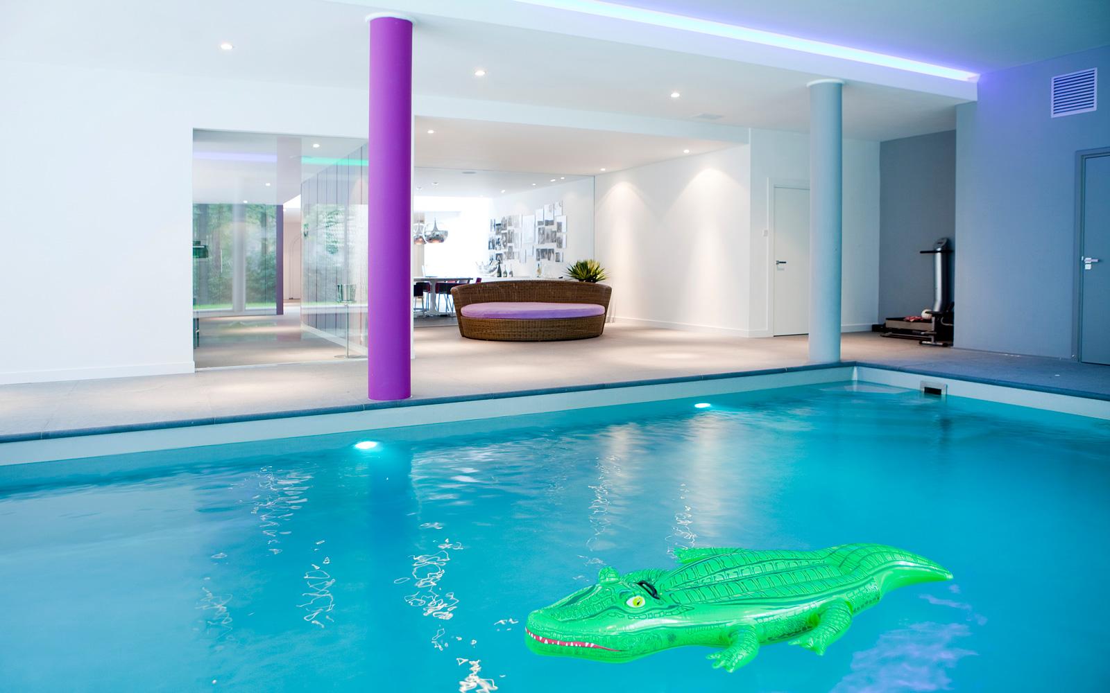 Vissers Zwembaden realiseerde het luxe zwembad dat deze villa compleet maakt.