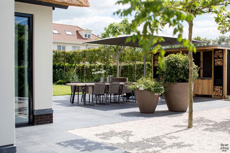 Landelijke nieuwbouw , Kabaz, borek, oisterwijk, design tuinmeubels, exclusieve tuinmeubels, the art of living