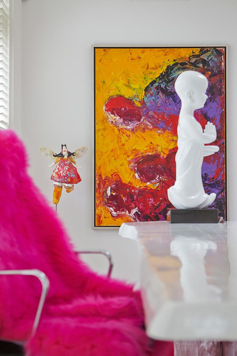 Kantoor, kunst, penthouse