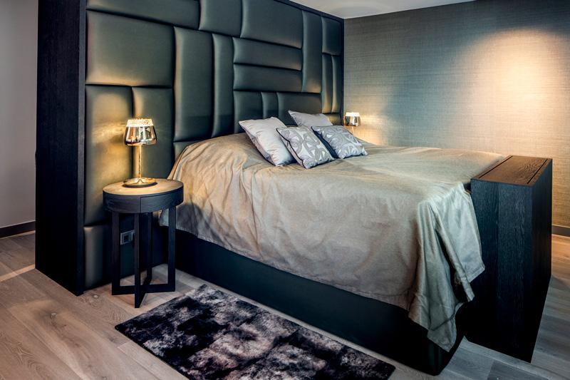 De stoffen van Vyva Fabrics sieren de slaapkamer