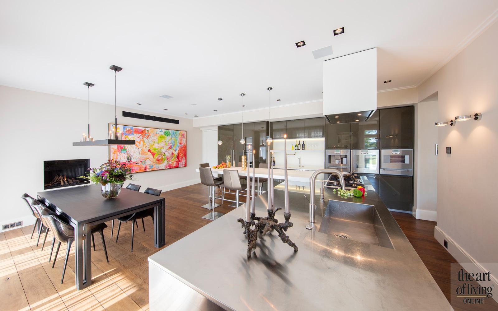 Keuken met haard van Boley, Versteegh Design