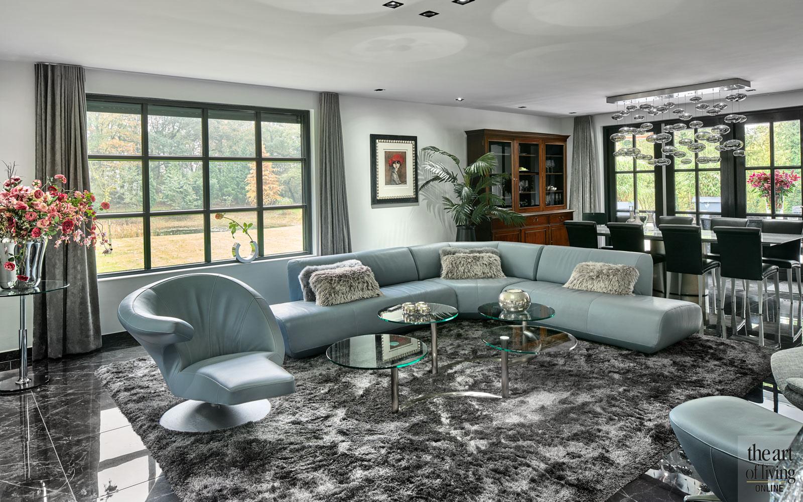 Sfeervolle woonkamer met vloerverwarming