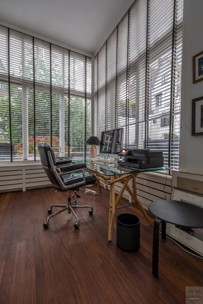 Werkplek, shutters, zonwering