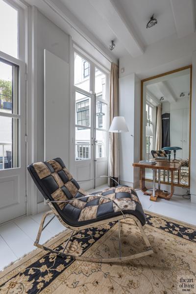 Lounge chair, slaapkamer,