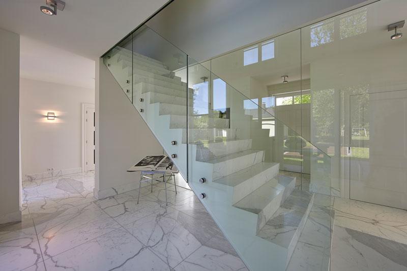 Transparant, glas, trap, ballustrade, Scheuten Glas, Gransman Glas