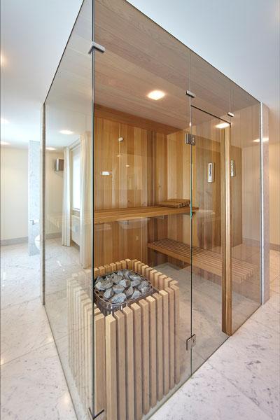 Sauna, Red Cedar hout, badkamer, marmeren villa, Rob Zeelen