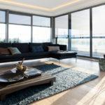 Woonkamer, fenomenaal uitzicht, glas van Metaglas, grote ramen, Penthouse Den Haag, Marco van Zal