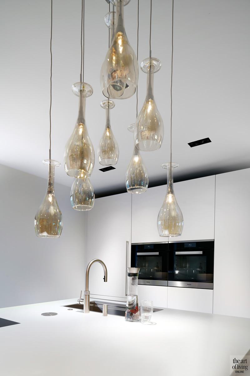 Verlichting in de keuken van Maretti Lighting, kokendwaterkraan van Quooker