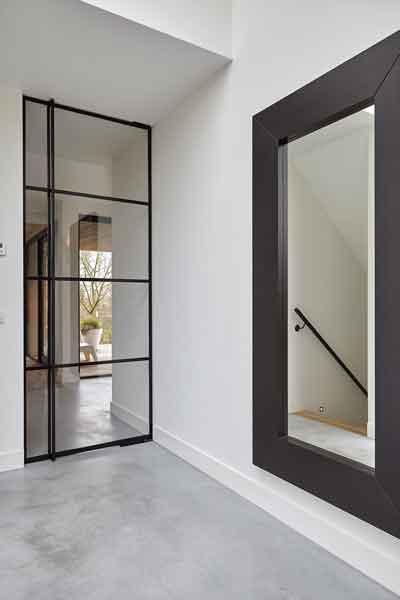 Stalen kozijnen, StalenDeurenHuys, glazen deur, hal, Landelijk, modern, Architectenbureau Koppens
