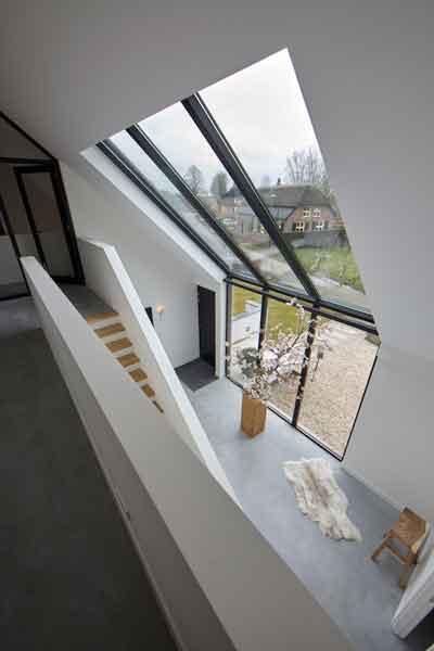 Vide, houten trap, grote ramen, Stalen kozijnen, StalenDeurenHuys, Landelijk, modern, Architectenbureau Koppens