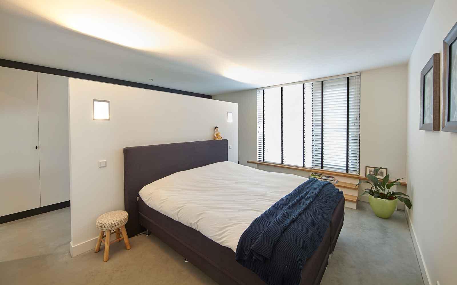 Slaapkamer, master bedroom, zicht op de tuin, Landelijk, modern, Architectenbureau Koppens