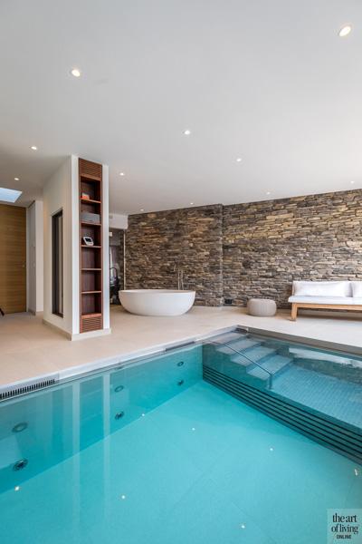 Binnenzwembad, Waterstijl, wellness