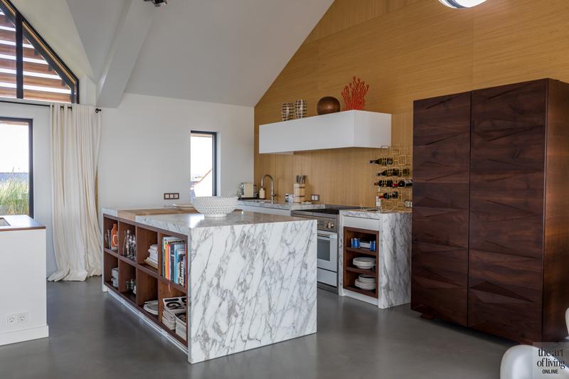 Keuken, wit marmer, Dokter Interieurbouw, oven Steel Nederland