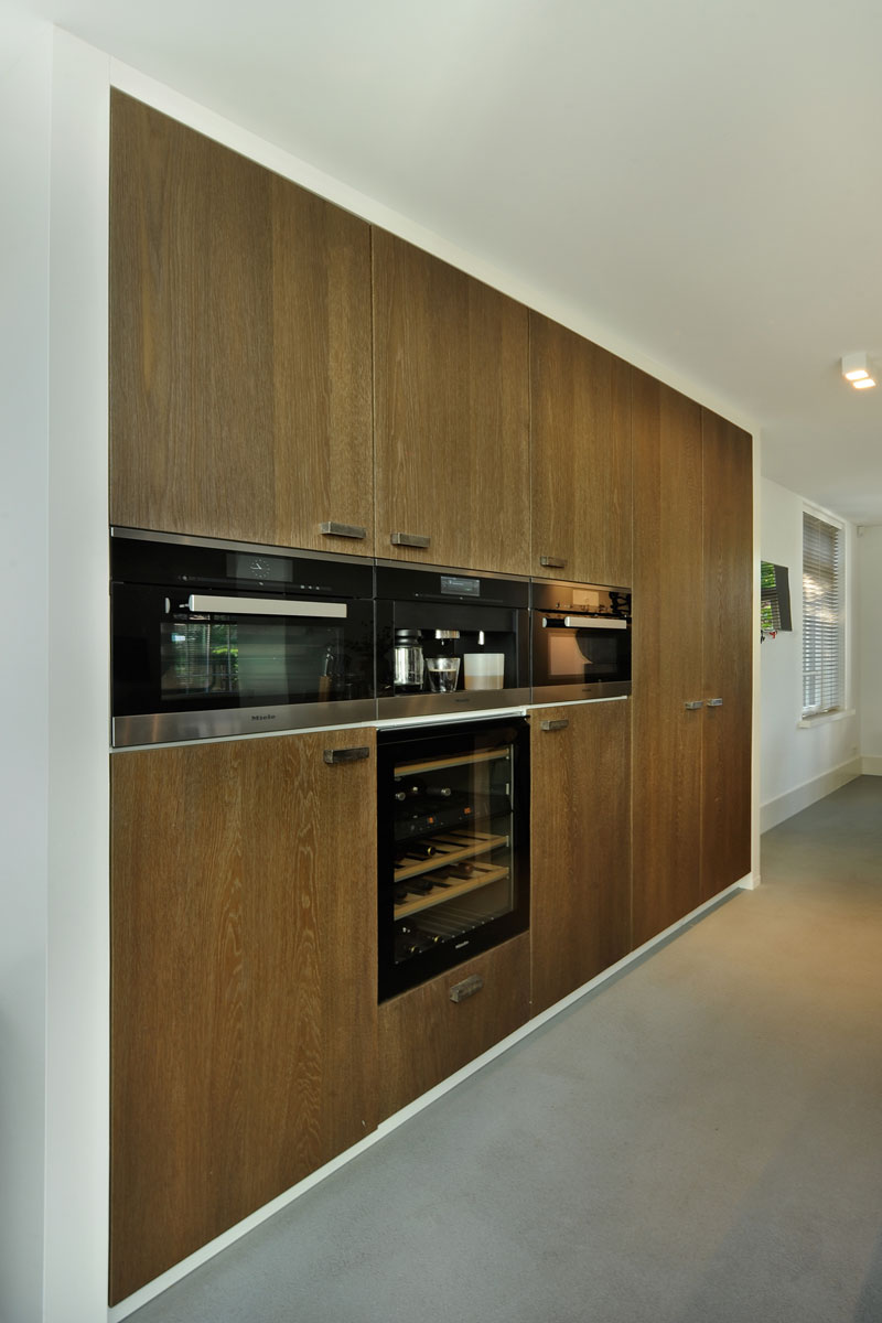 Keuken, houten kasten, kastenwand, Van Ginkel Keukens, metamorfose, Boxxis Architecten