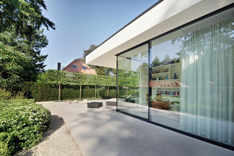 Tuin, terras, tuinmeubelen, Borek, moderne bungalow, Boxxis Architecten