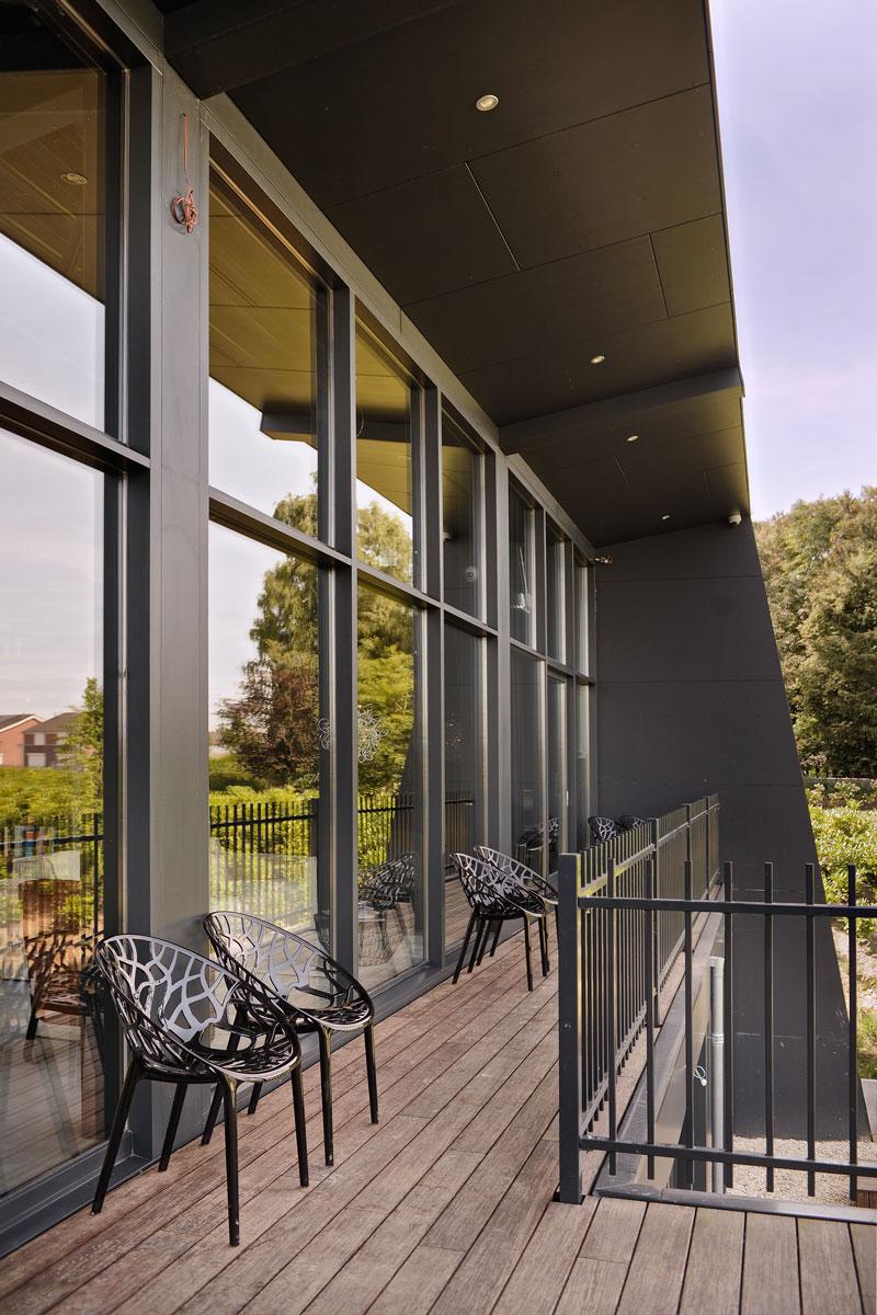 Balkon, ontspannen, lounge chair, La Marquise, Hertroijs Architekten
