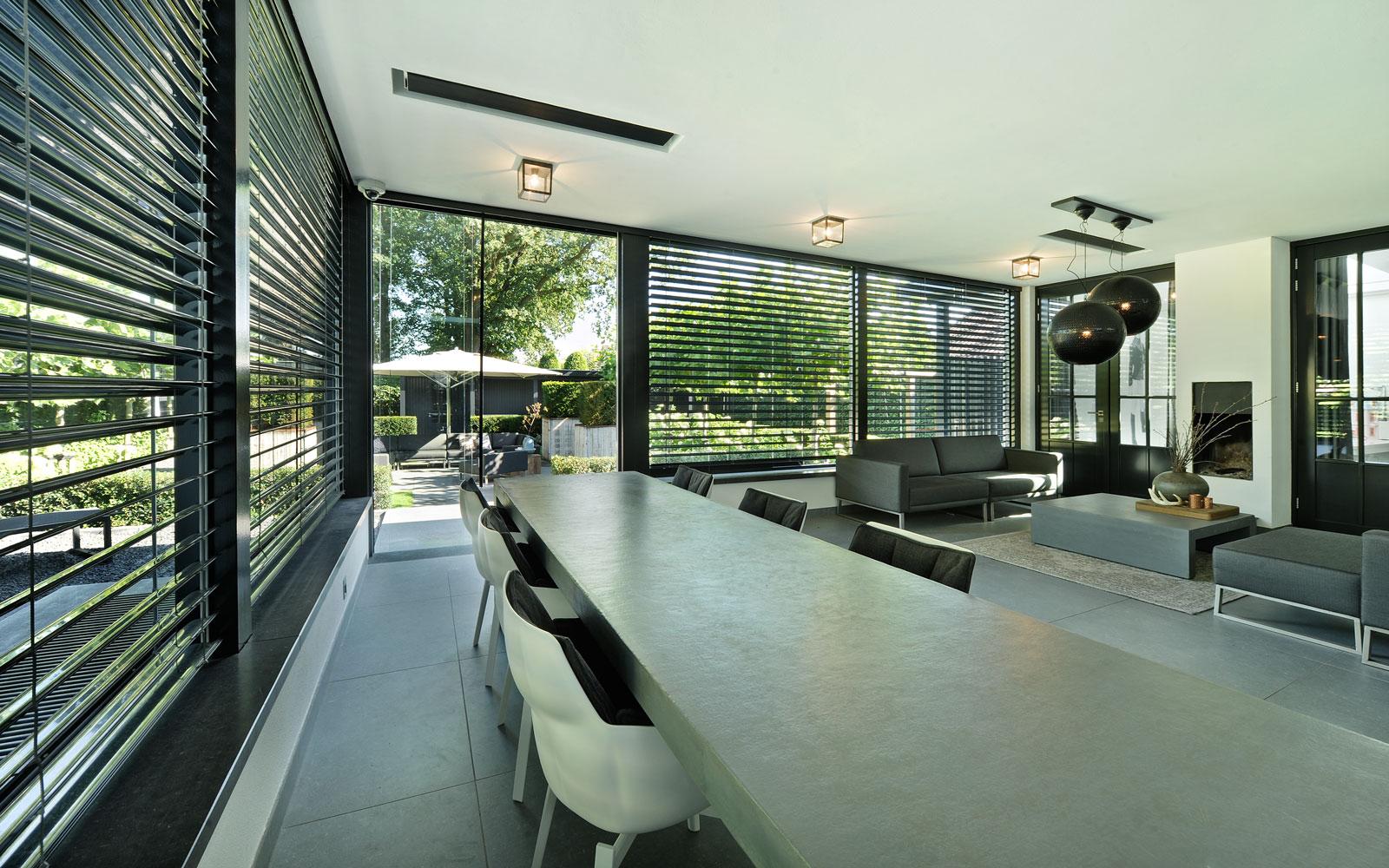 Veranda, binnenruimte, buitenruimte, multifunctioneel, shutters, metamorfose, Boxxis Architecten