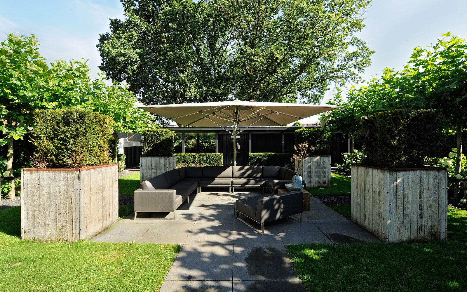 Tuin, tuinmeubelen, parasol, Tuuci, metamorfose, Boxxis Architecten