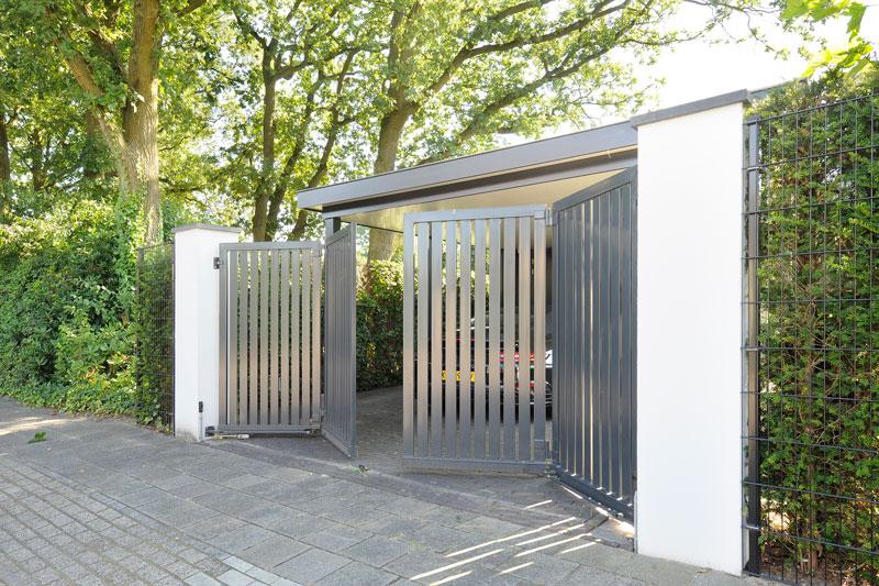 Toegangspoort, poort, entree, oprit, metamorfose, Boxxis Architecten