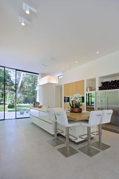 Keuken, kookeiland, Quooker, kokendwaterkraan, eiken hout, moderne bungalow, Boxxis Architecten