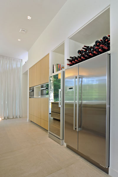 Keuken, wijnkoelkast, eiken hout, kast, moderne bungalow, Boxxis Architecten