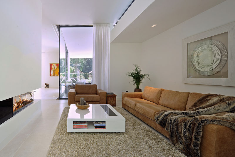Woonkamer, zithoek, meubilair, moderne bungalow, Boxxis Architecten