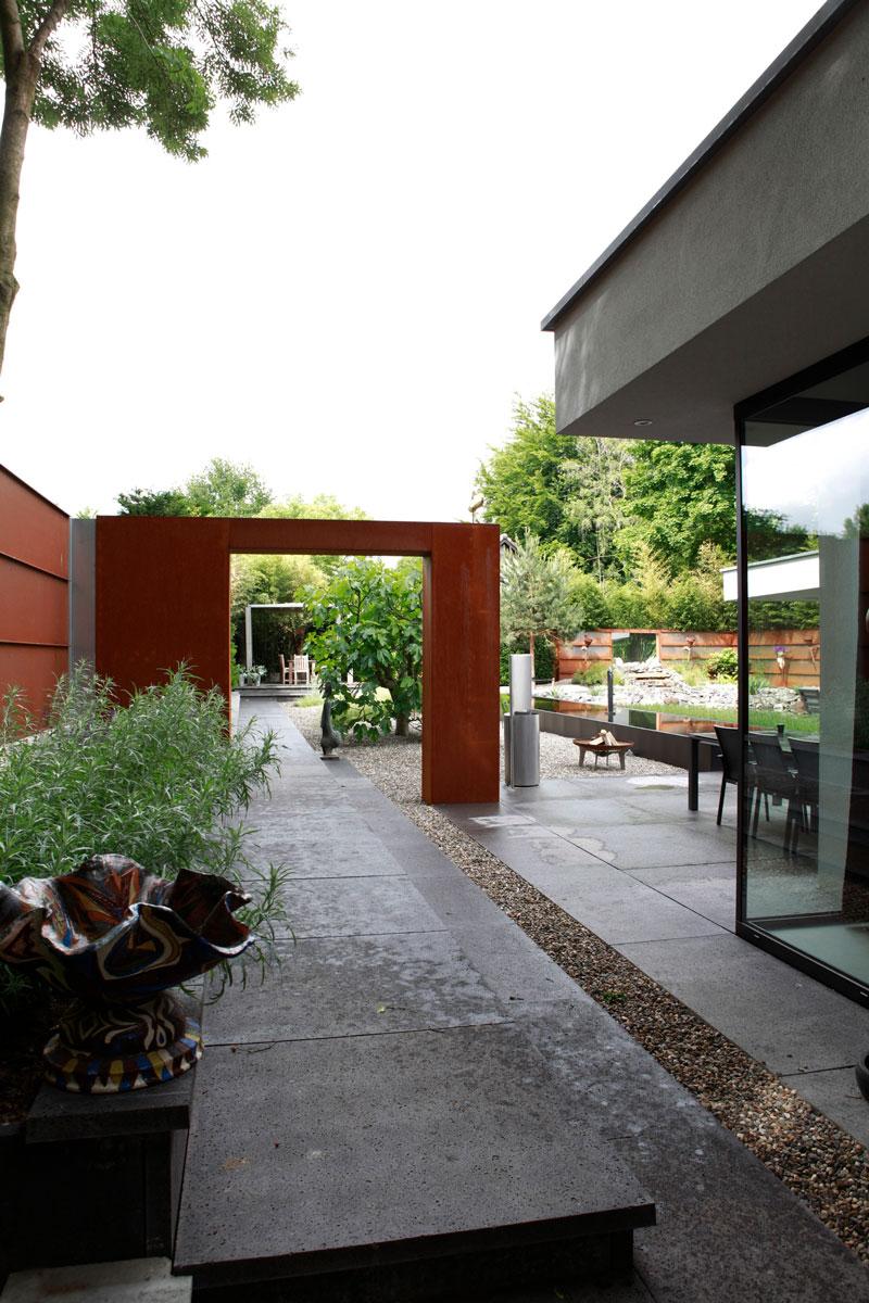 Parktuin, Van Esch Hoveniers, terras, kleurrijk, statig, moderne villa, Boley