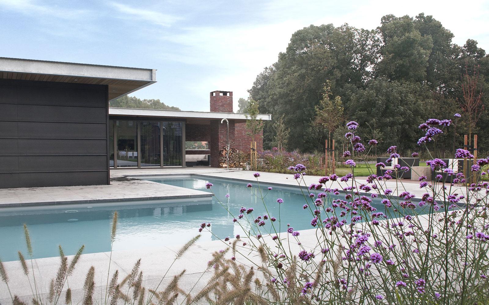 Zwembad, L-vorm, energiezuinig, Van Gemert, lamellendak, droomvilla, Marco Daverveld