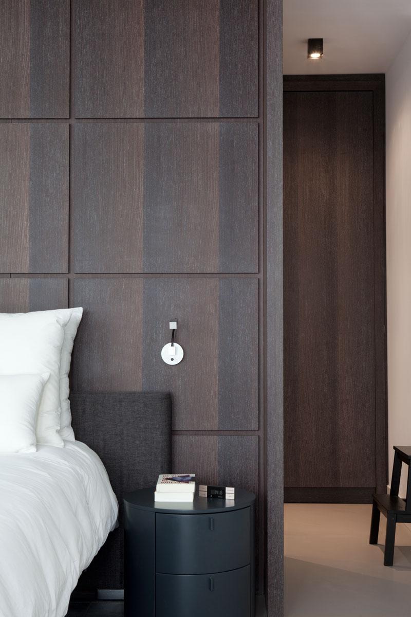 Slaapkamer, master bedroom, maatwerk kasten, penthouse Amsterdam, Remy Meijers