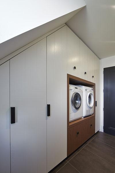 Maatwerk kasten, wasmachine, droomvilla, Marco Daverveld