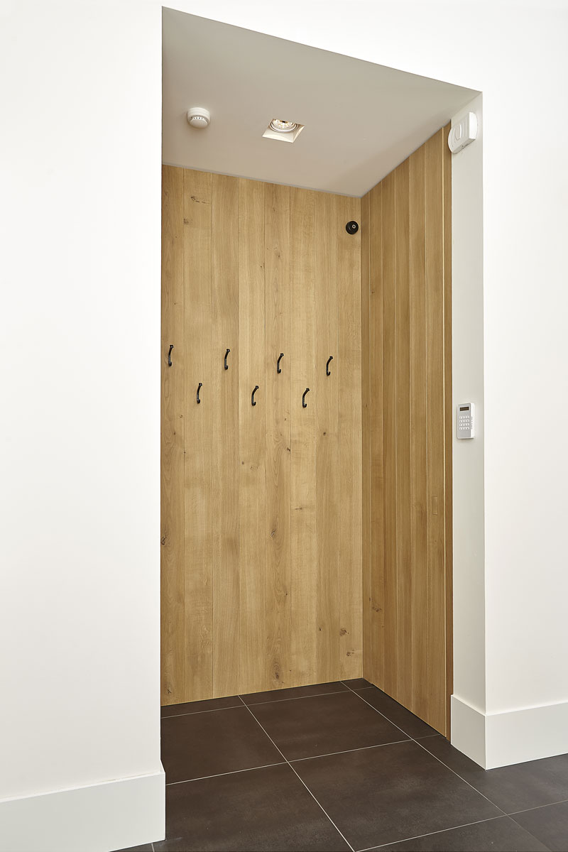 Kapstok, hout, maatwerk, entree, droomvilla, Marco Daverveld