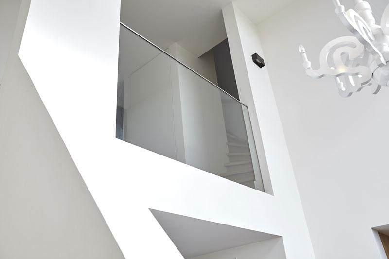 Vide, glazen balustrade, strak, wit, droomvilla, Marco Daverveld