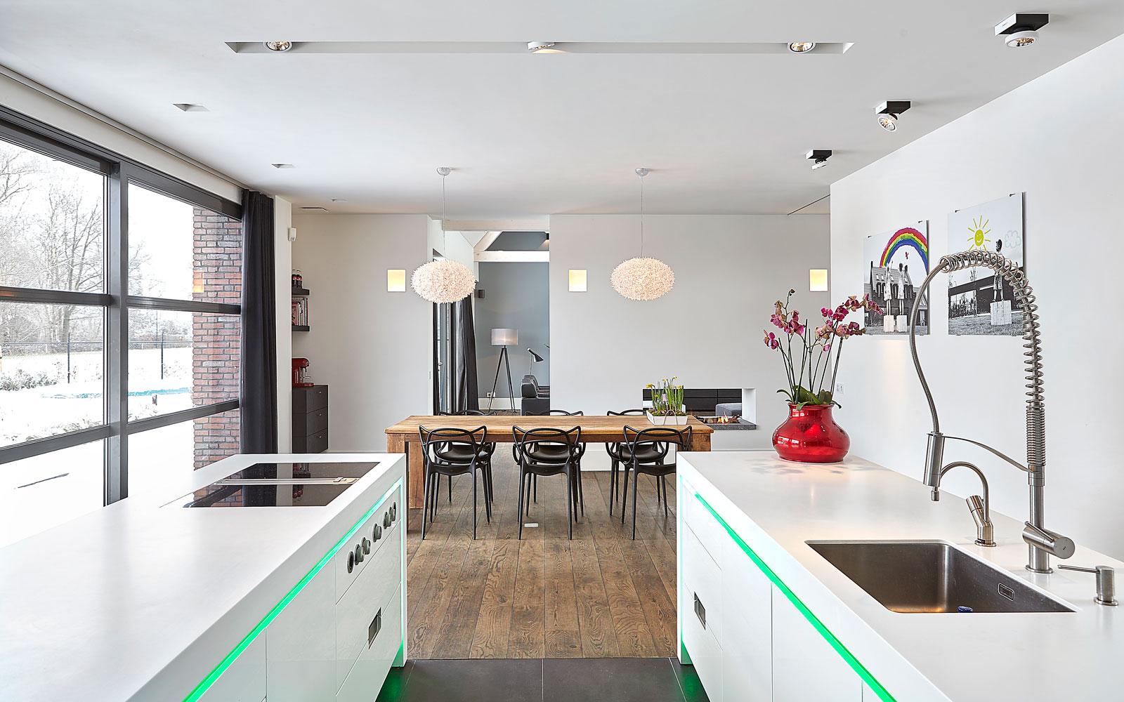 Keuken, ledverlichting, Culimaat, maatwerk, high end kitchen, droomvilla, Marco Daverveld