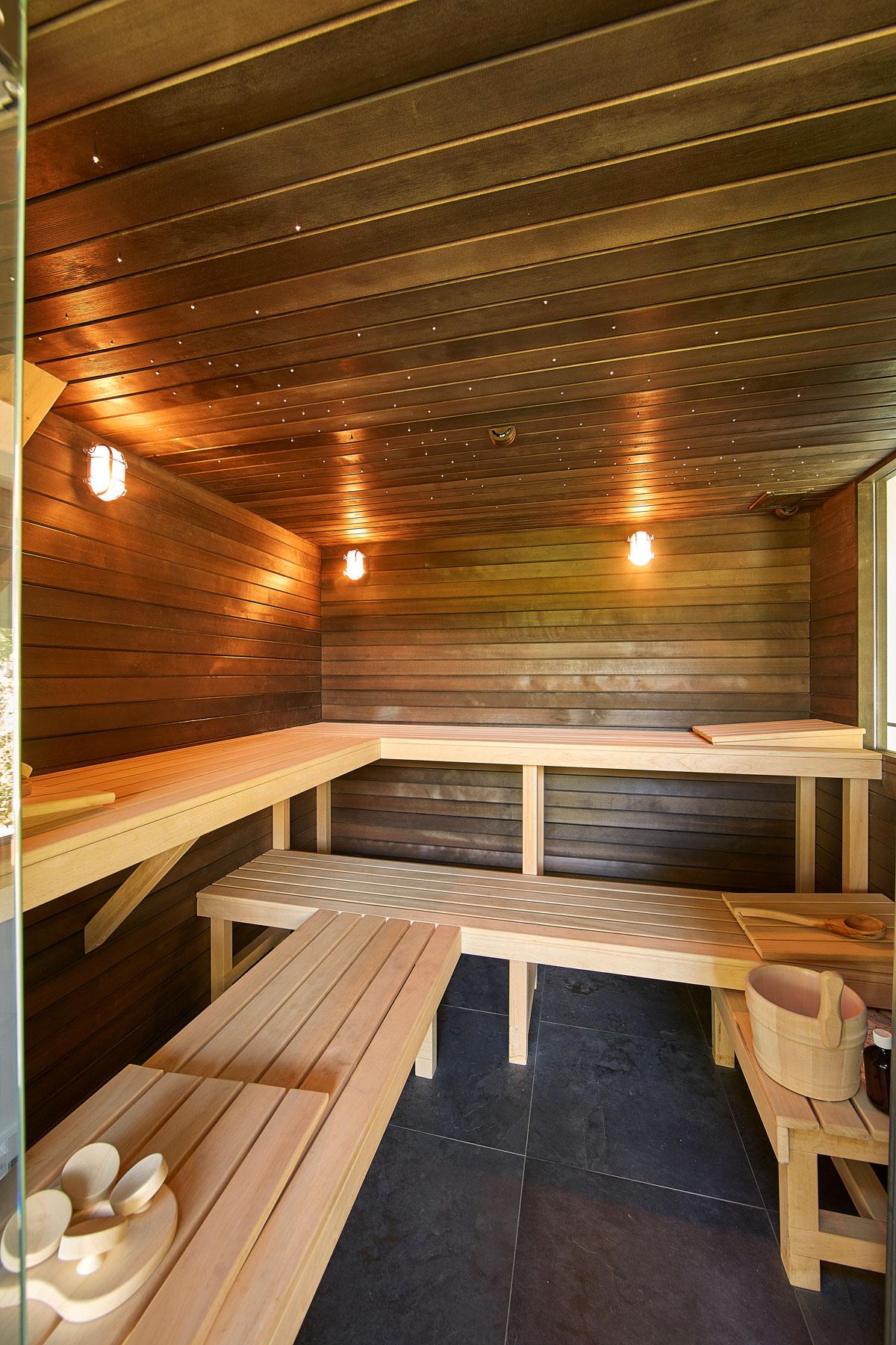 Wellness, Sauna, ontspannen, relaxruimte, symmetrische villa, PBV Architects