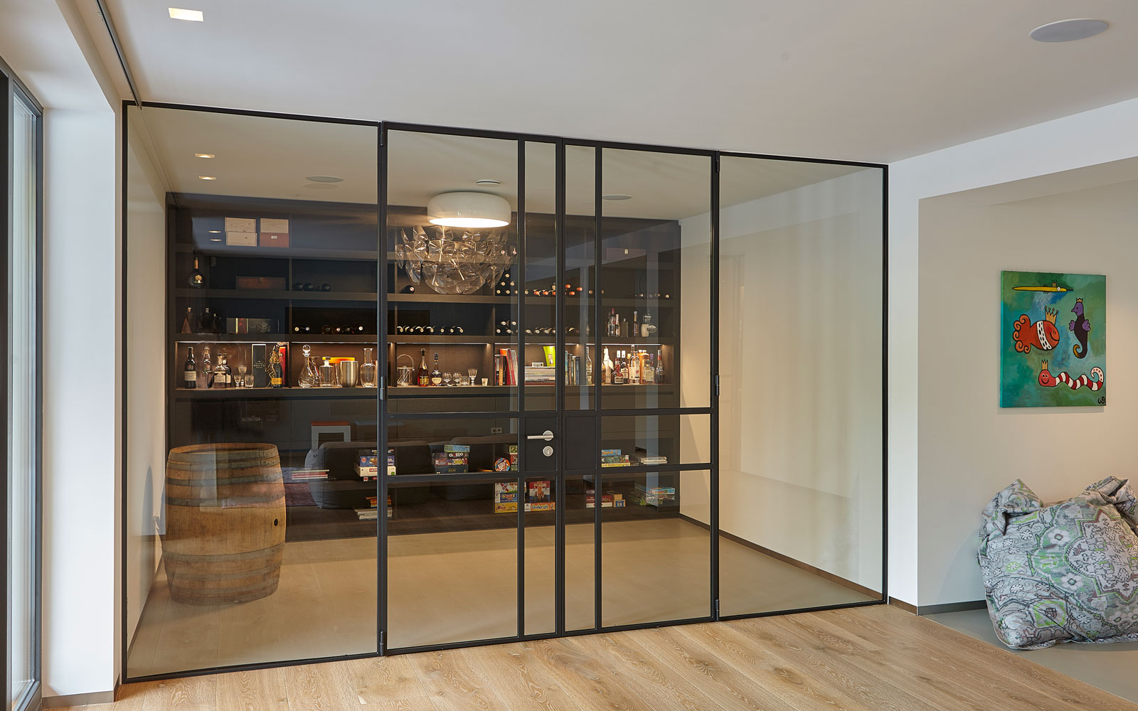 Wijnkelder, inspirerende villa, Wolfs Architecten
