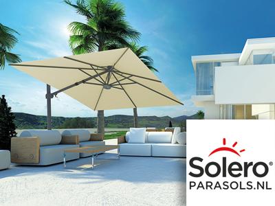 Solero Parasols, parasols, zomer, tuinaccessoires, tuinmeubels, outdoor living