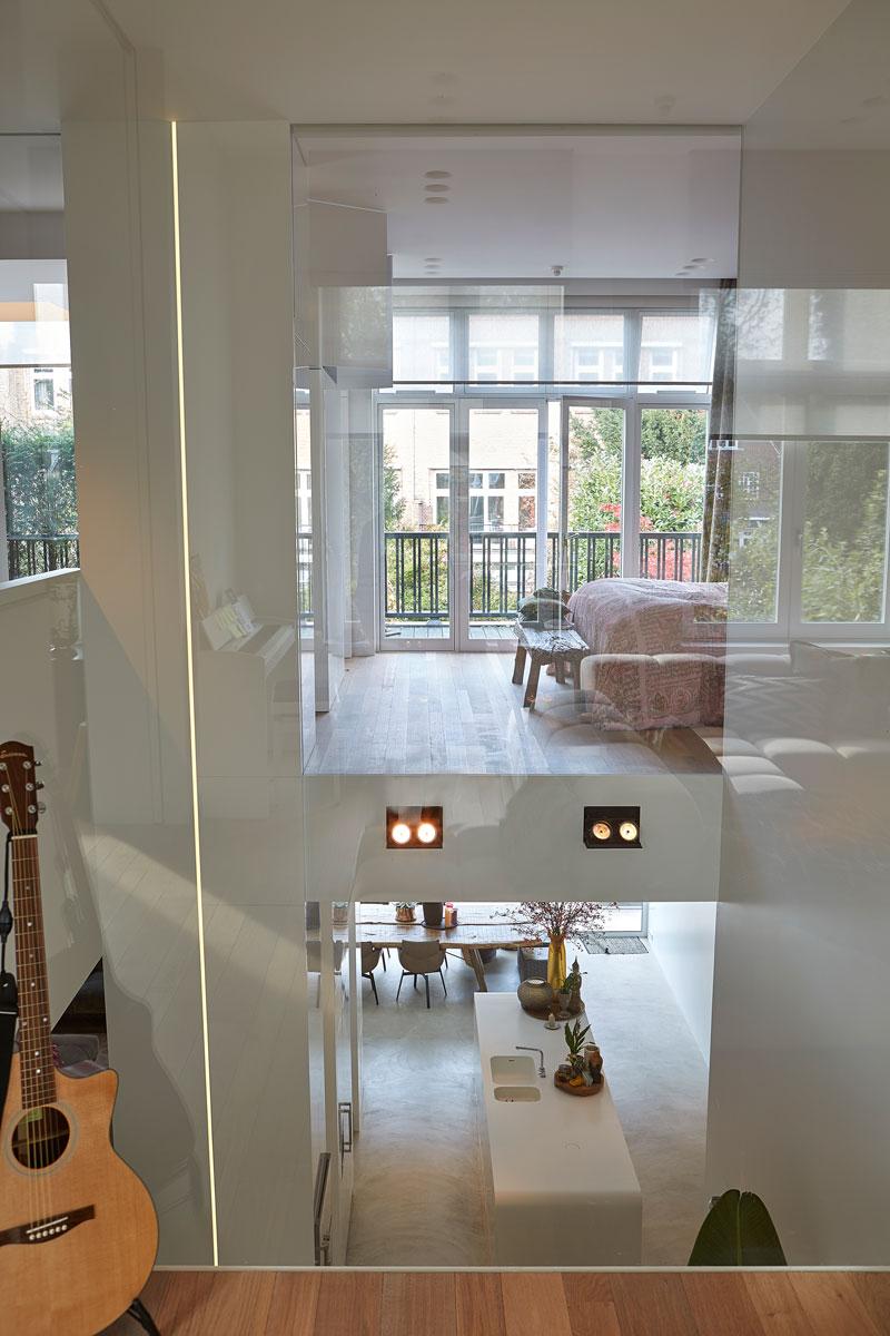 Vide, glazen plafonds, ruimte, licht, grachtenpand, Bart van Wijk