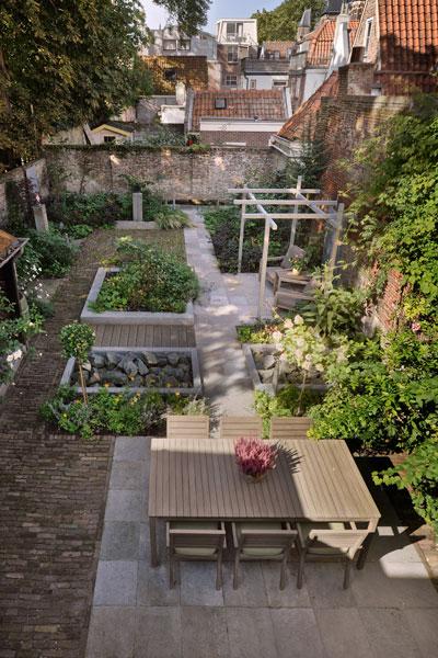Tuin, Oxalis, terras, planten, interieur herenhuis, Van Oort Interieurs
